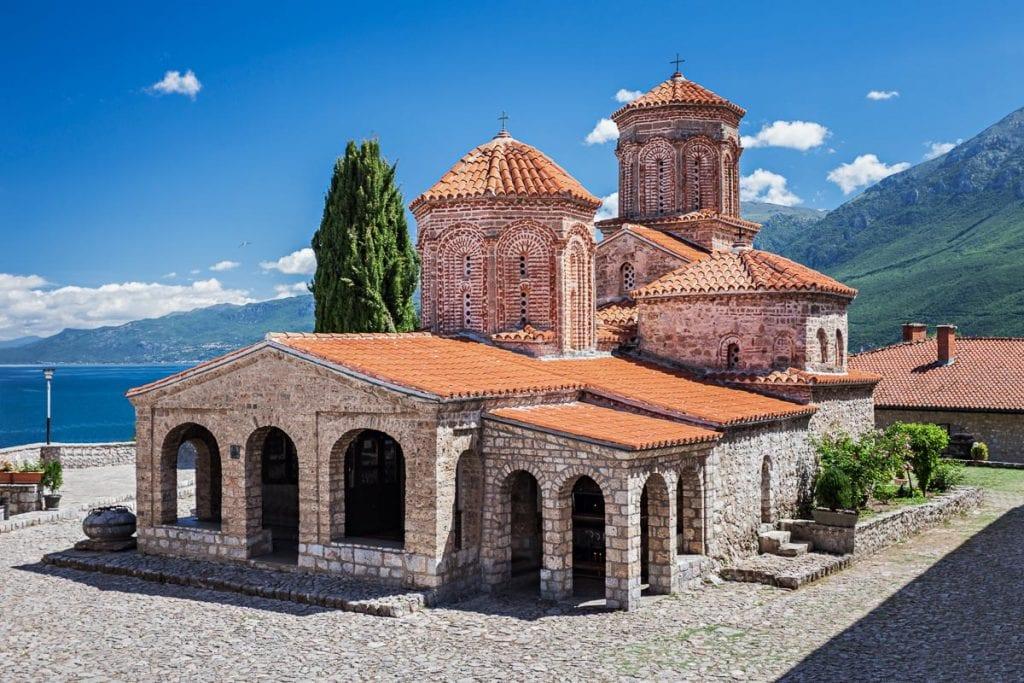 Монастырь Святого Наума недалеко от Охрида в Македонии