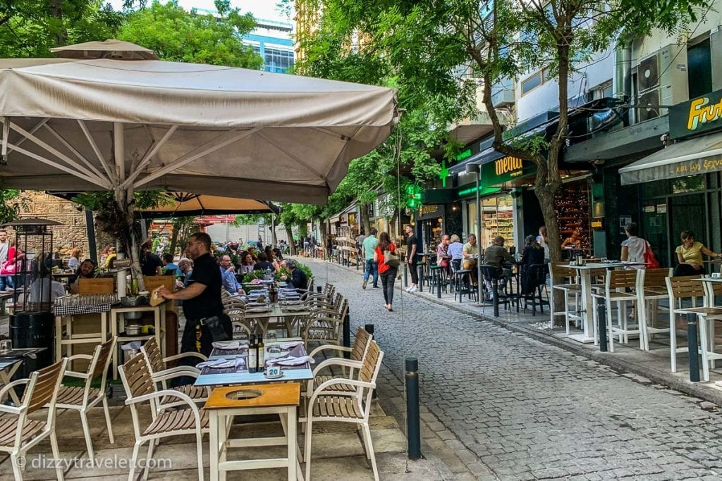 Street view of Thessaloniki