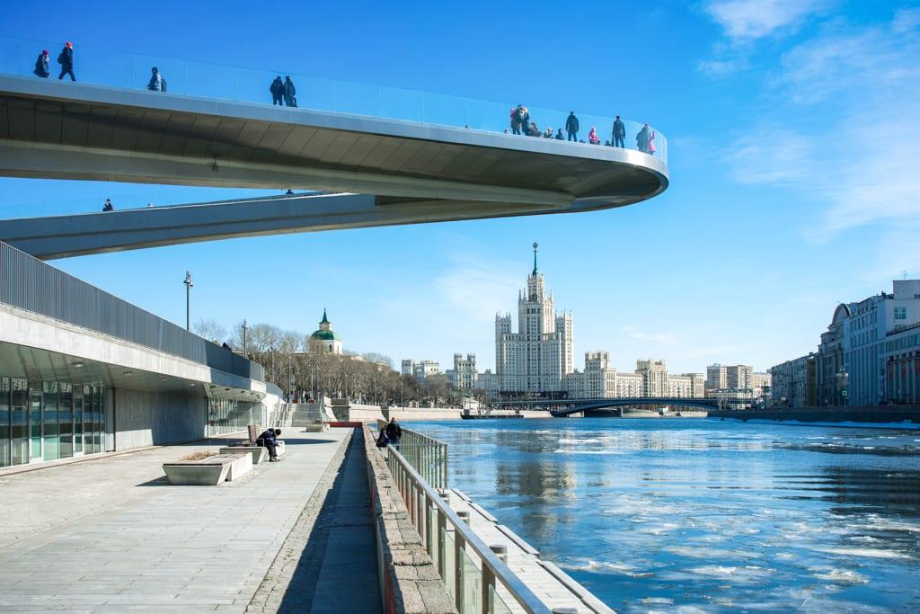 Floating pedestrian Bridge Zaryadye park