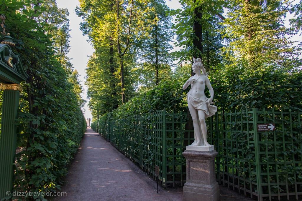 Summer garden in Saint Petersburg
