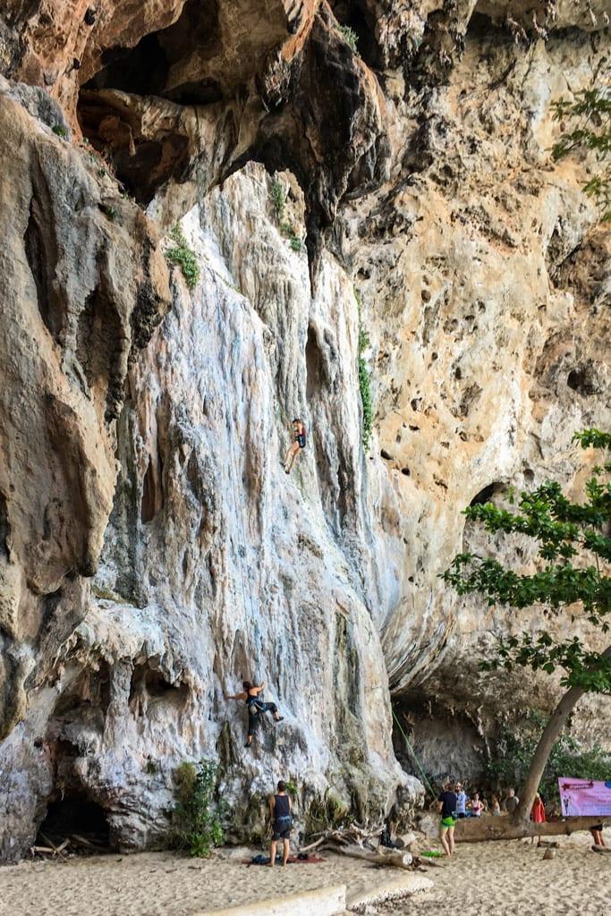 Rock Climbing in Railay Bay, Krabi