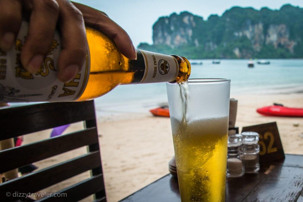 Singha Beer - Railay Bay, Krabi, Thailand