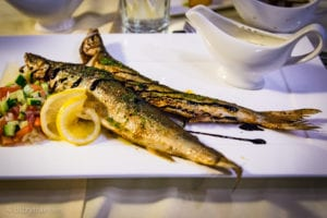 Smoked Omul fish at Kiermont restaurant