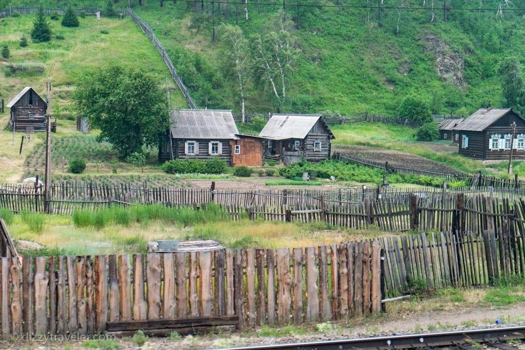 Small village in Siberian Region