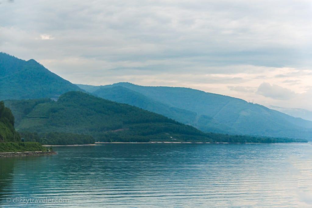 A view of Lake Baikal from Slyudyanka, Russia