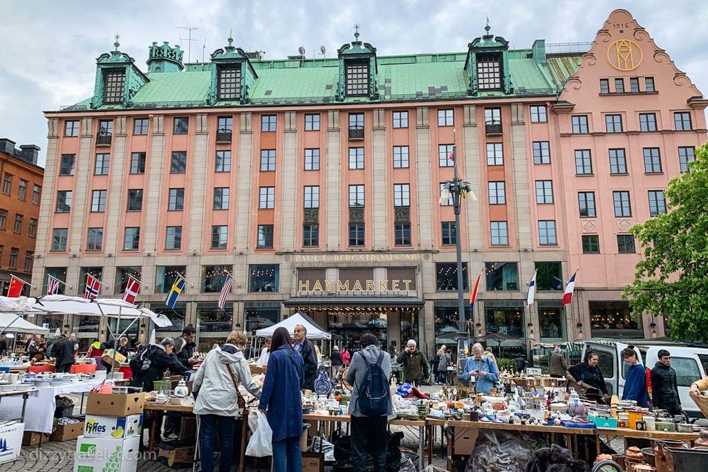 Open Air Flea Market at Hotorget