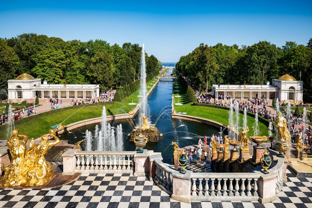 St. Petersburg Russia. Peterhof Palace
