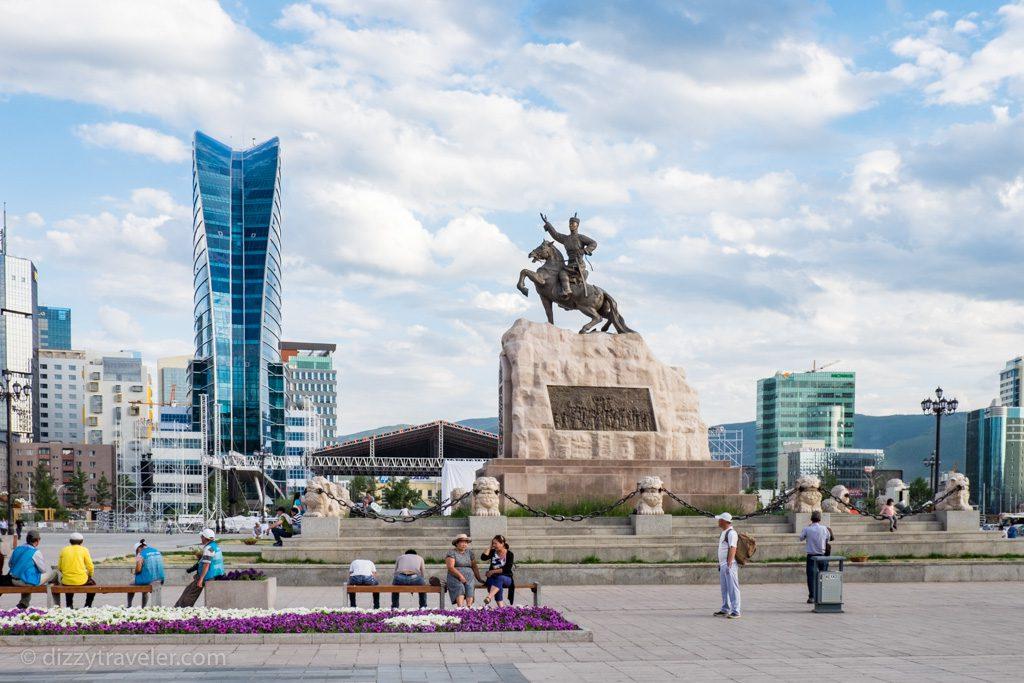 Sukhbaatar Square in Ulan Bator
