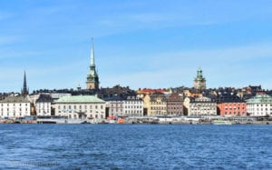 View of Stockholm from water taxi
