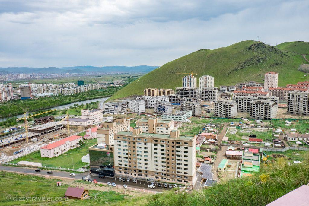 Zairean Hill in Ulaanbaatar