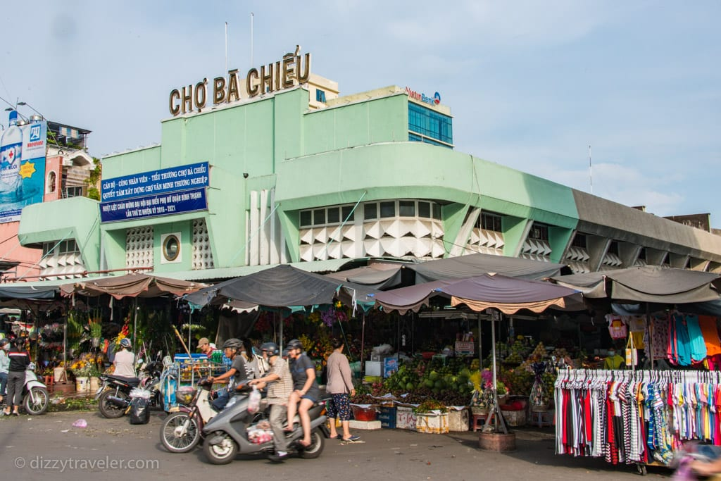 In front of Cho Ba Chieu Market, Ho Chi Minh City