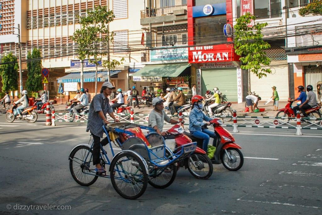 Cyclo in Saigon