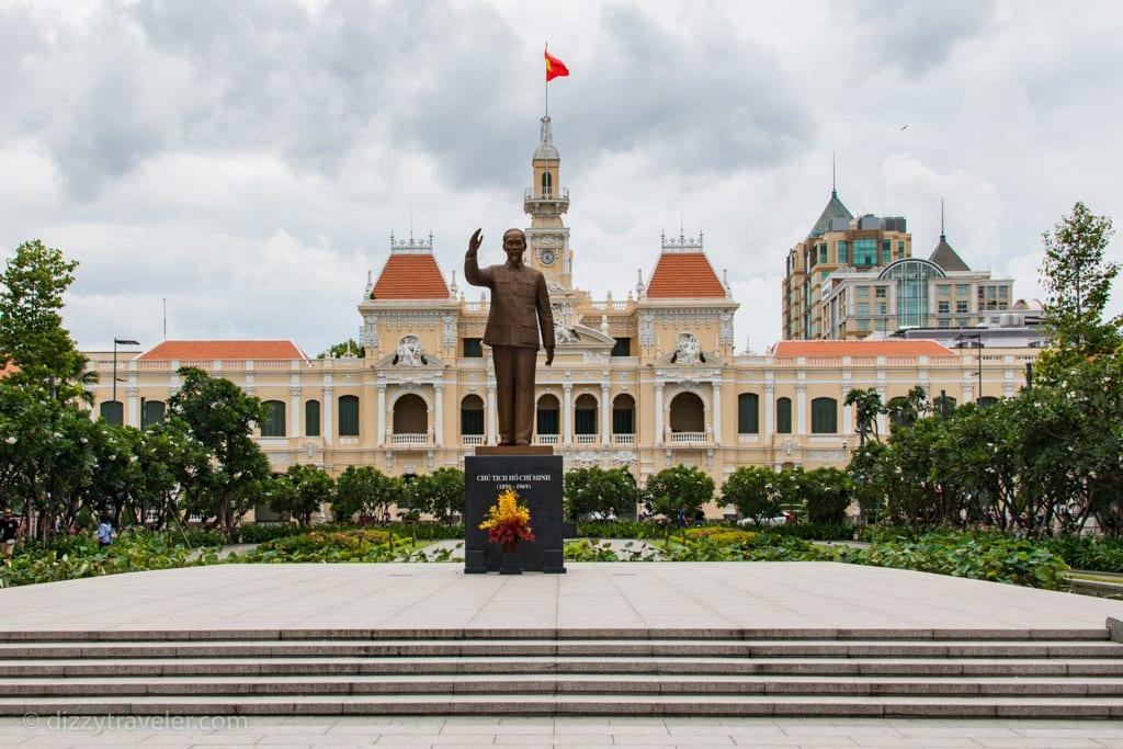 Statue of Ho Chi Minh at the square, Saigon